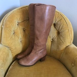 Sam Edelman Shoes - Sam Edelman Brown Tall aside Zipped Boots👢
